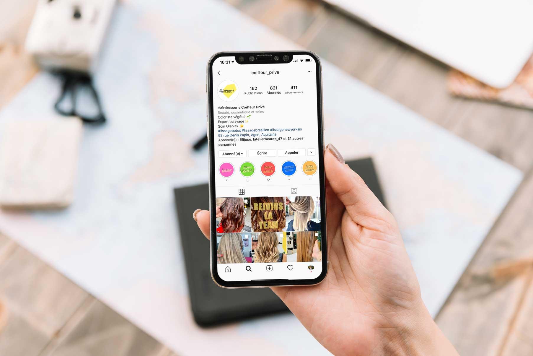 Communication digitale sur les réseaux sociaux pour Hairdresser's à Agen