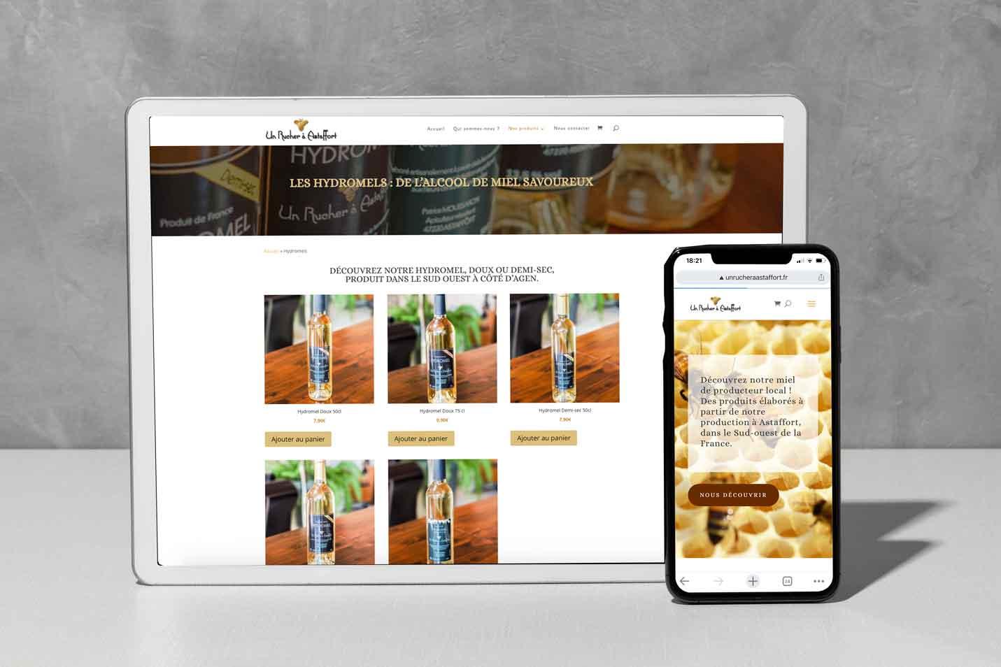 Création d'un site internet marchand pour Un rucher à Astaffort