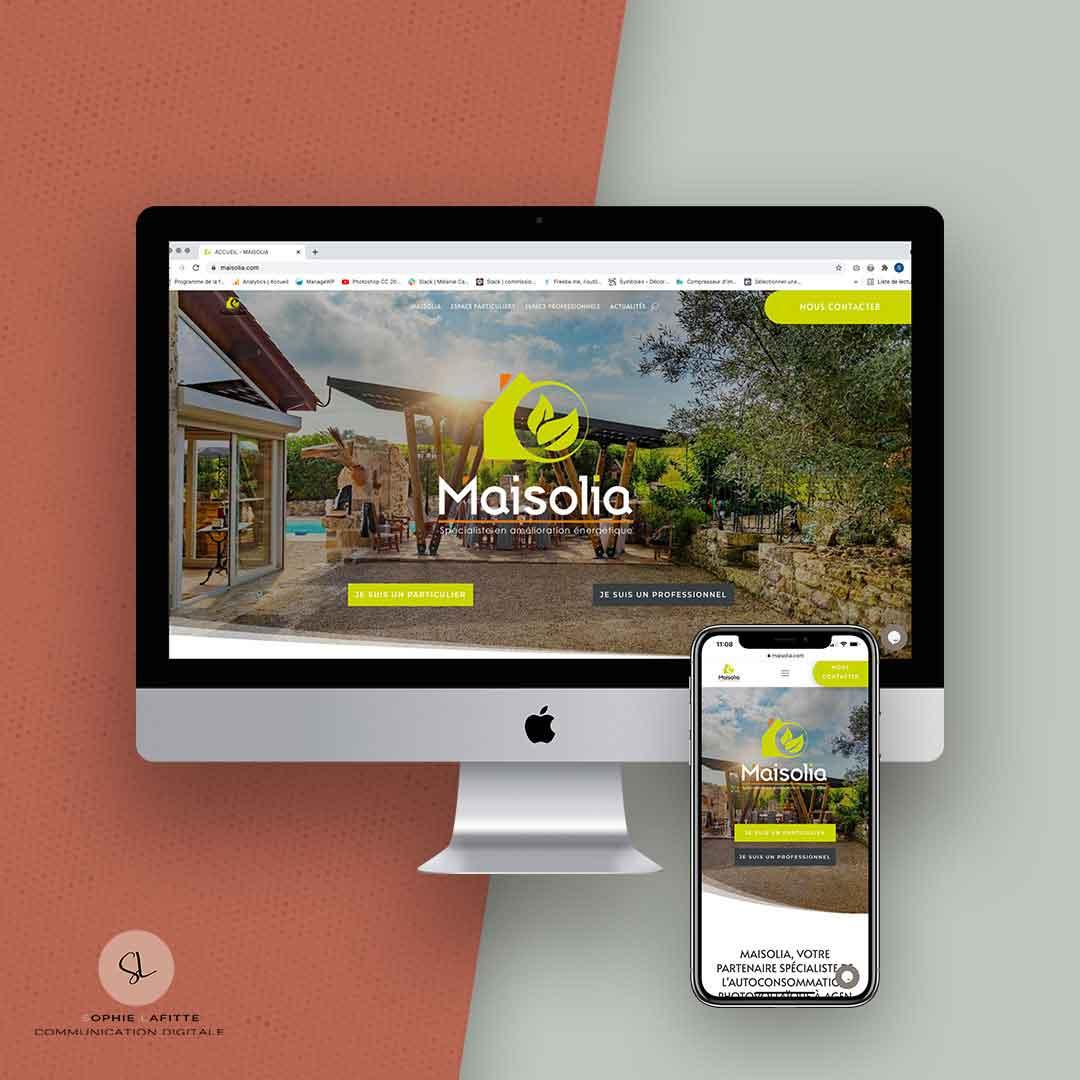 création de site internet vitrine pour maisolia à Agen
